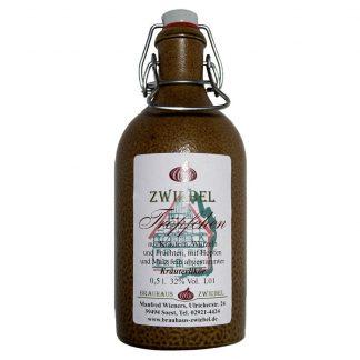 Zwiebeltröpfchen Bügel-Tonkrug 0,5 Liter